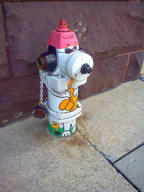 snoopy fire hyrdrant saxophone
