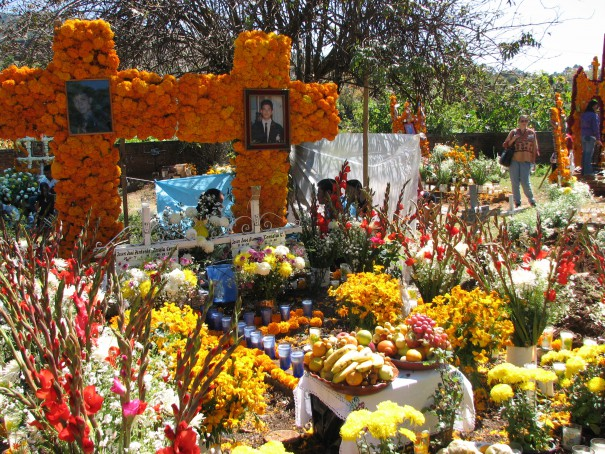 graveyard mexico day of the dead cemetery
