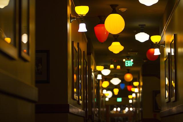 Hallway lights Anderson School Kathleen Nuberg