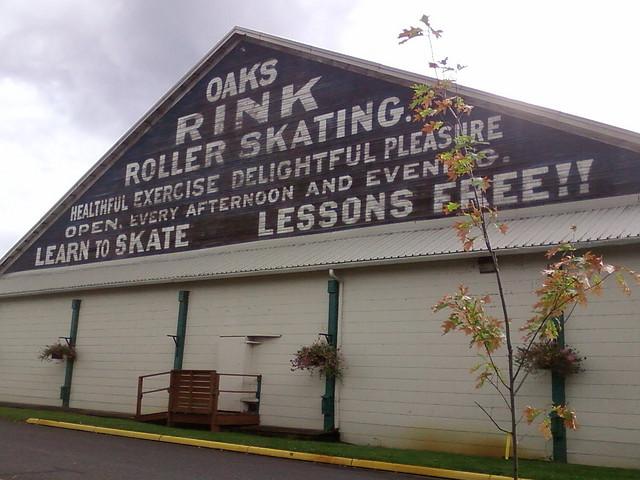Exterior oaks rink
