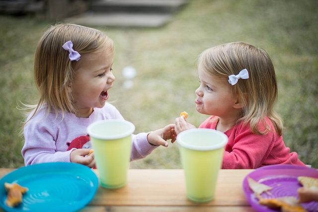 Sisters sharing