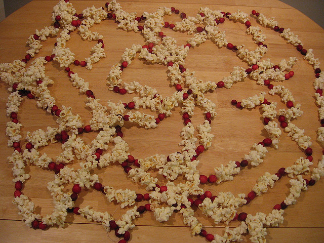 cranberry and popcorn garland