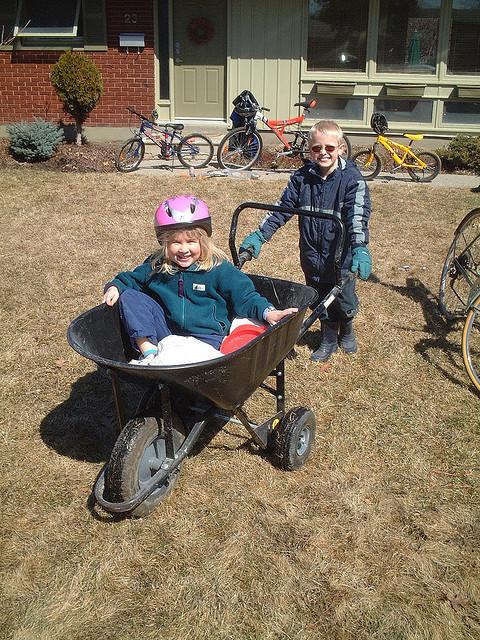 wheelbarrow kids