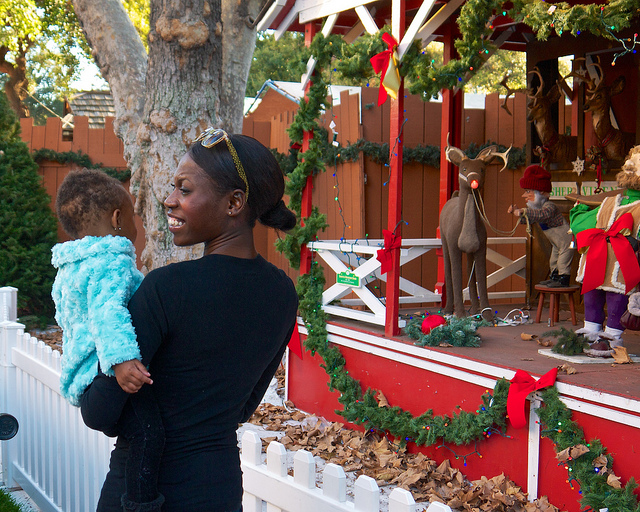 san jose christmas in the park mom and baby
