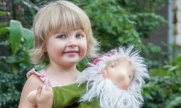 Gnomes Home - Tallulah with Waldorf Doll