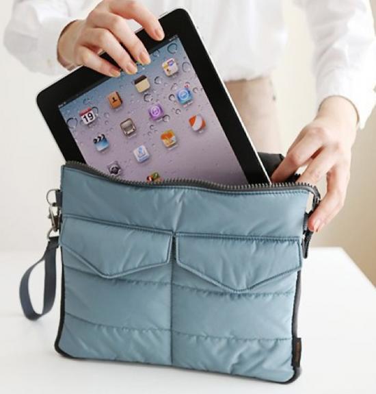 iPad inside a purse