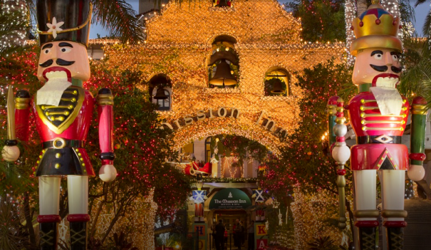 Mission Inn in Riverside decorated for the holidays