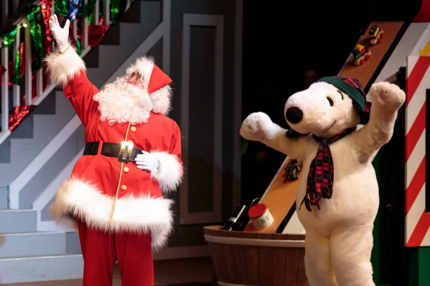 Santa and Snoopy