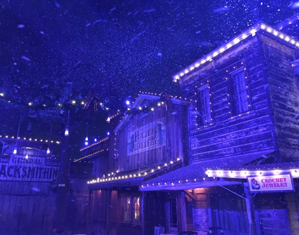 Snow and Glow in Ghost Town