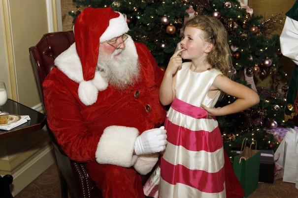 Santa Claus arrives for the holidays at The Langham Huntington, Pasadena