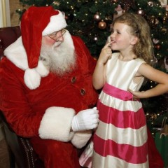 Santa Claus at the langham Huntington Hotel in Pasadena