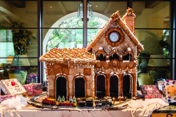 Gingerbread house for the holidays at Terranea Resort