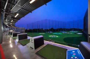 Top Golf Naperville Bay at Night
