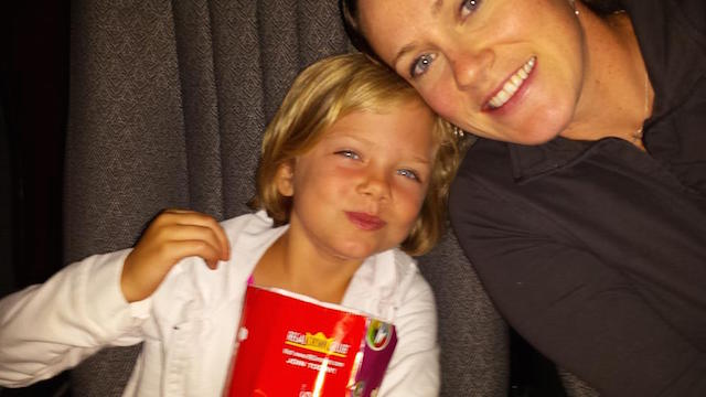 Colleen Murray mom and kid at movies