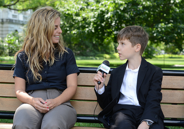 Kid interviewer Flick CC--US Department of Ag