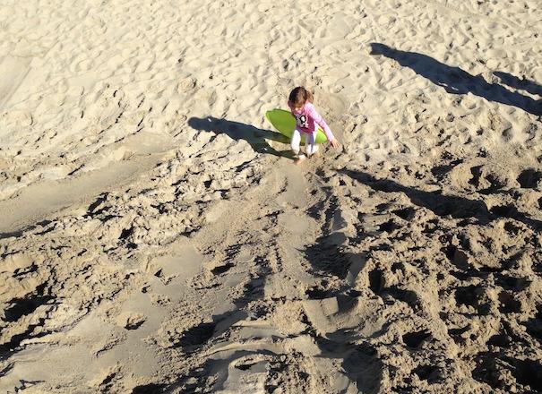Sand Sledding Climb
