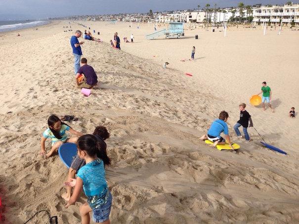 Sand Sledding Hermosa Beach Pier