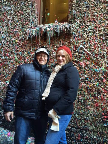 Prego mom at gum wall Seattle