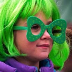 Girl Smiling on St. Patricks Day