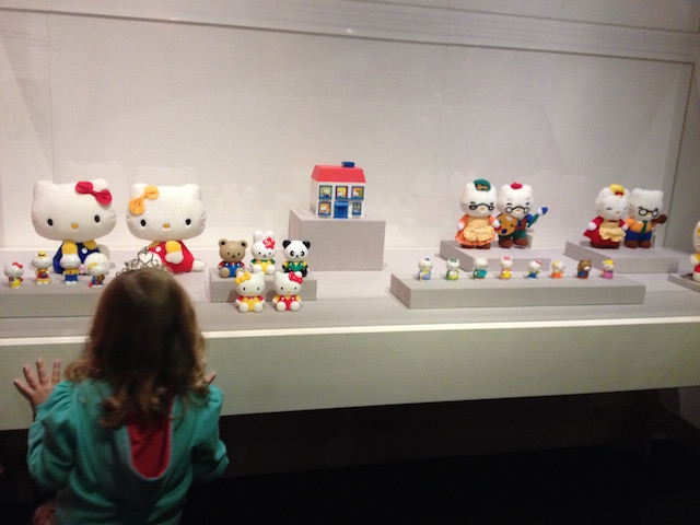 Girl Hello Kitty exhibit Allison Sutcliffe photo