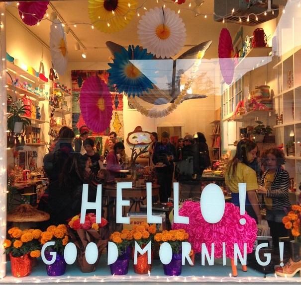 Hello! Good Morning! front window