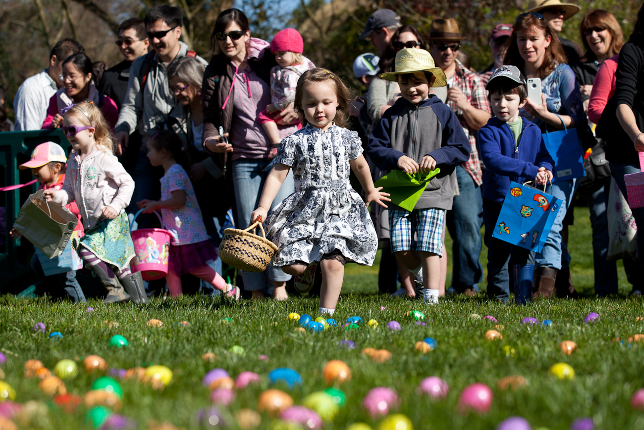 Throughout the day, families can enjoy amazing egg hunts for children ages 1-8, crafts, bunny encounters and other eggs-citing zoo programs. Each egg hunt is open on a first-come, first-served basis. Space may be limited. As part of the zoo's conservation mission, families must bring their own egg hunt basket or reusable bag. For the health and well-being of the zoo's animals, candy will not be placed inside the eggs—egg hunt participants will receive their treats as they exit the zoo. Plus... meerkats, gorillas, otters and more nibble on specially made Easter baskets lined with flowers, berries and other favorite treats. The special treats are part of the zoo's excellent animal care program to help enrich the lives of the zoo's animals, promote natural animal behavior, keep animals mentally stimulated and engage zoo visitors.