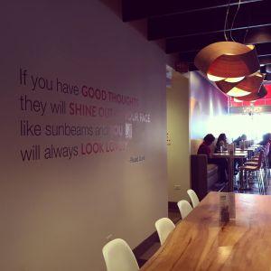 LYFE Kitchen Quote Wall