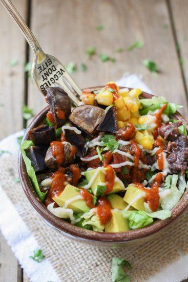 Low-Fat Vegan Mexican Taco Bowl