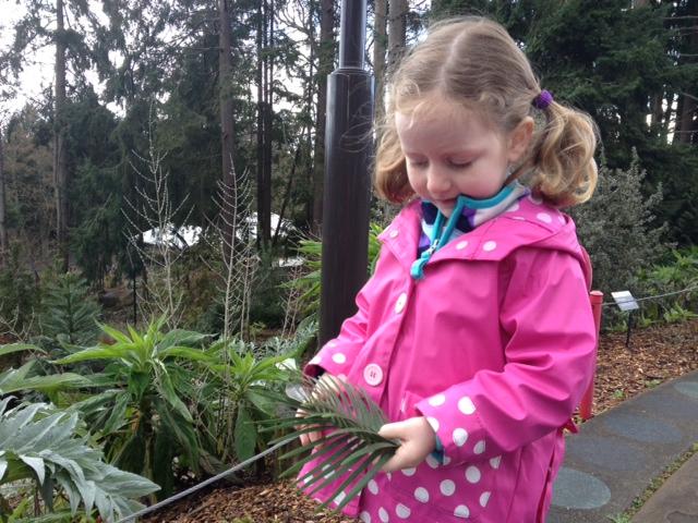 zoo garden tour girl with plant