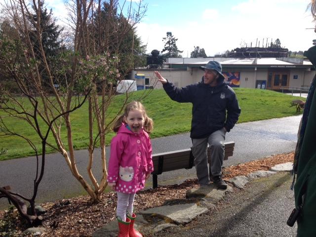 zoo garden tour girl with tree