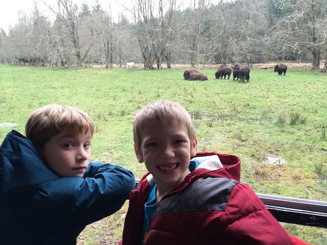2 boys at Northwest Trek