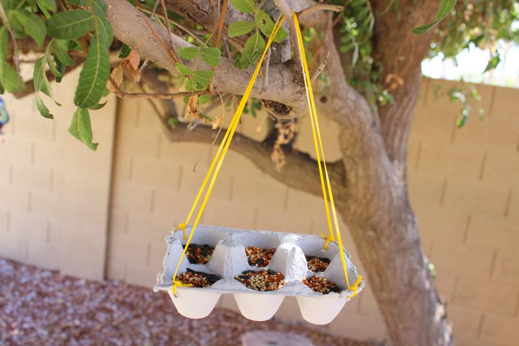 CreativeCubby Egg Carton Bird Feeder