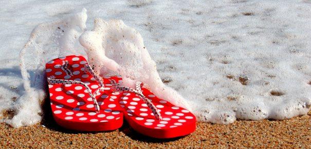 flip flops splashed by wave -cc- Bermi Ferrer via flickr