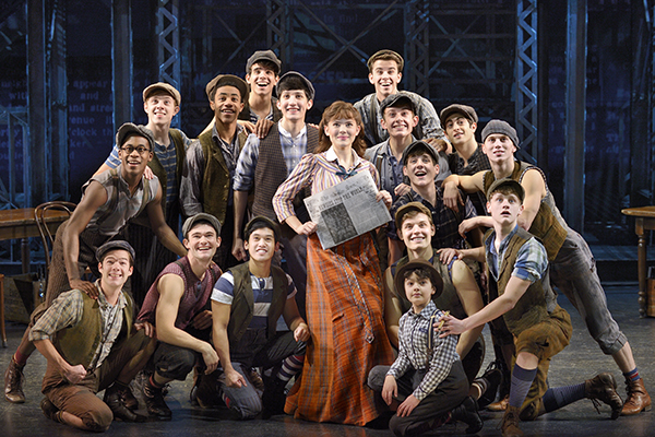 Newsies, a Disney Theatrical Production under the direction of Thomas Schumacher presents Newsies, music by Alan Menken, lyrics by Jack Feldman, book by Harvey Fierstein, starring Joey Barreiro (Jack Kelly), Steve Blanchard (Joseph Pulitzer), Morgan Keene (Katherine Plumber), Aisha de Haas (Medda Larkin), Stephen Michael Langton (Davey), Zachary Sayle (Crutchie), John Pitera or Ethan Steiner (Les) under the direction of Jeff Calhoun, choreographed by Christopher Gattelli, North American Tour