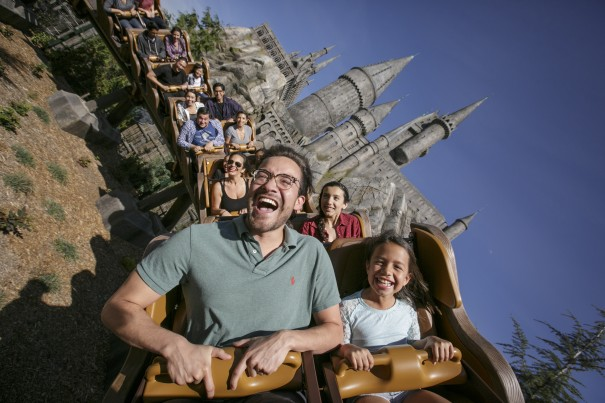 Park Guests on Flight of the Hippogriff at WWoHP USH Photo Credit David Sprague