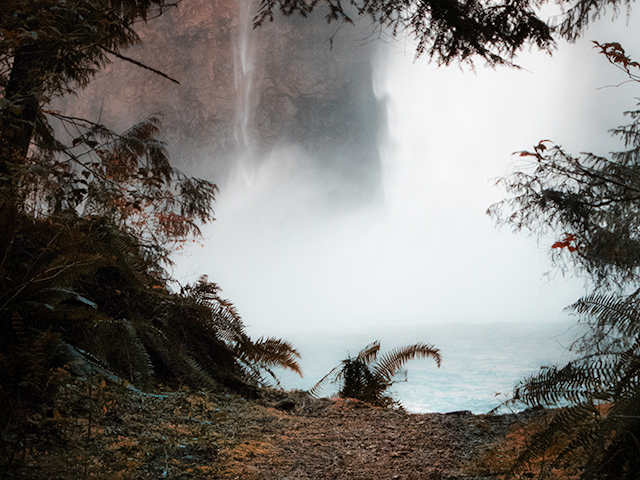 Snoqualmie falls from trail access Brian Smith