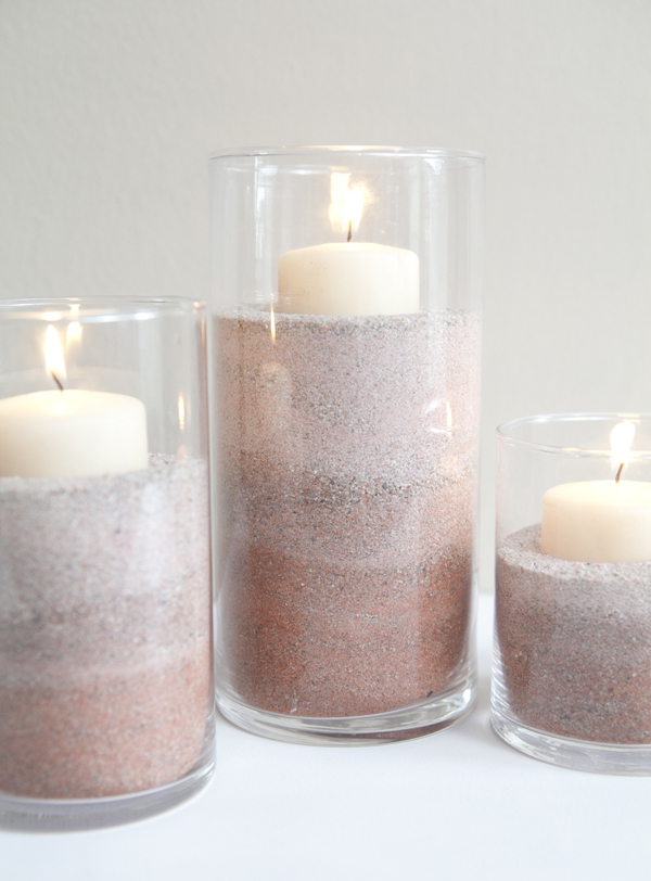 Something Turquoise - Ombre Sand Candle