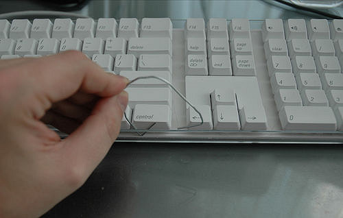 paper clip cleaning hack