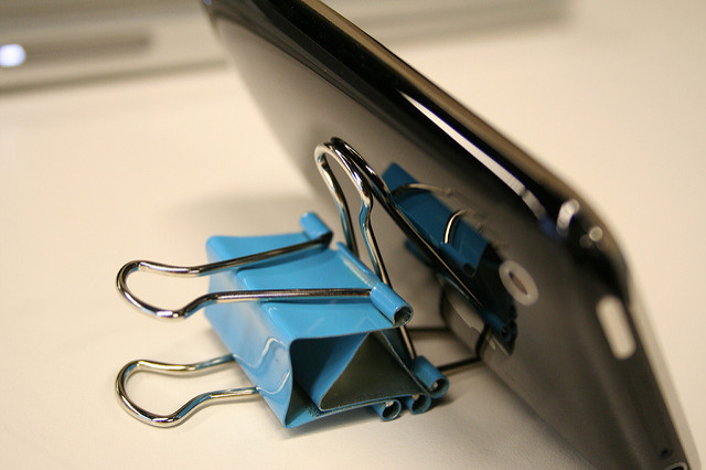 paper clip binder clip iphone holder