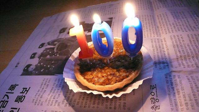 100 birthday candles
