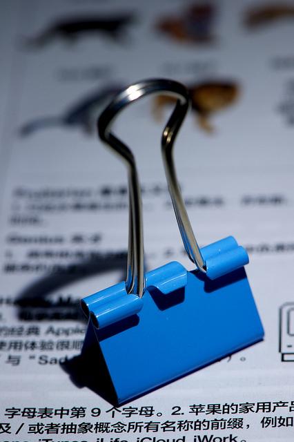 binder clip paper clip hack