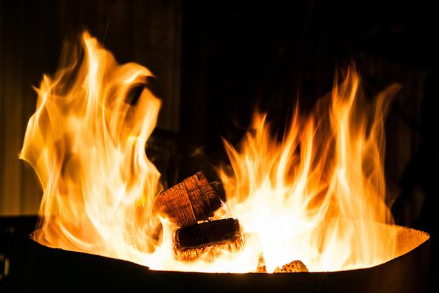 flames, fire, campfire