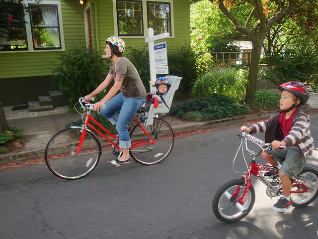 Portland family bike ride