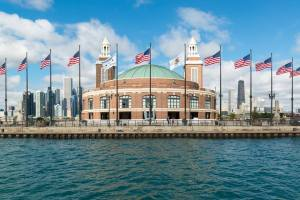 Navy Pier from lake