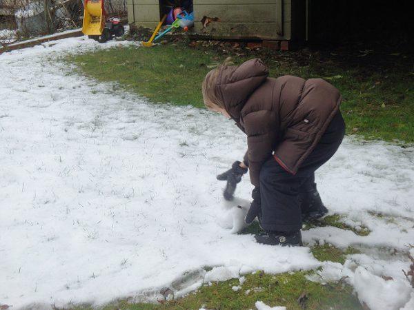 Portland kid in snow