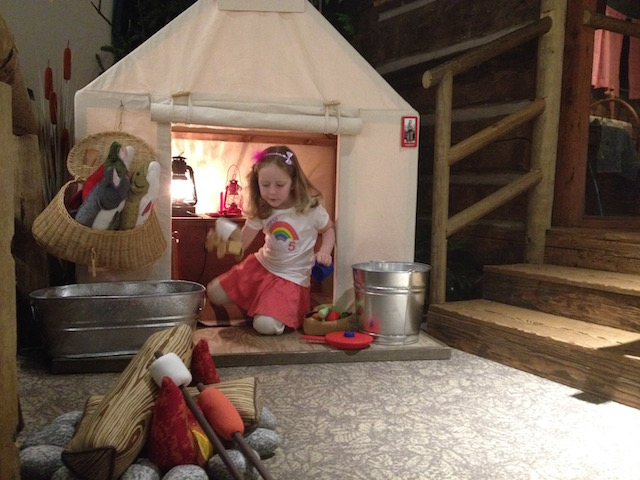 WRVM girl in cook tent