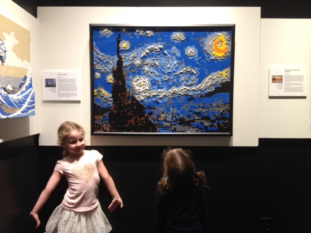 2 girls LEGO starry night