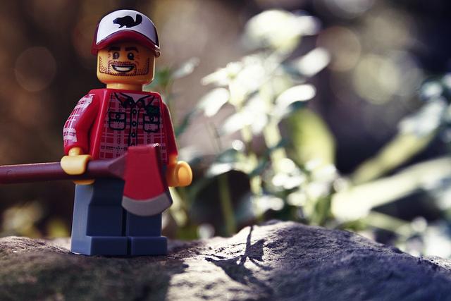 lumberjack lego guy