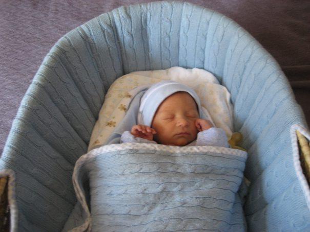 Newborn in Bassinet