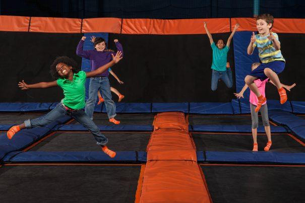 Sky Zone kids jumping
